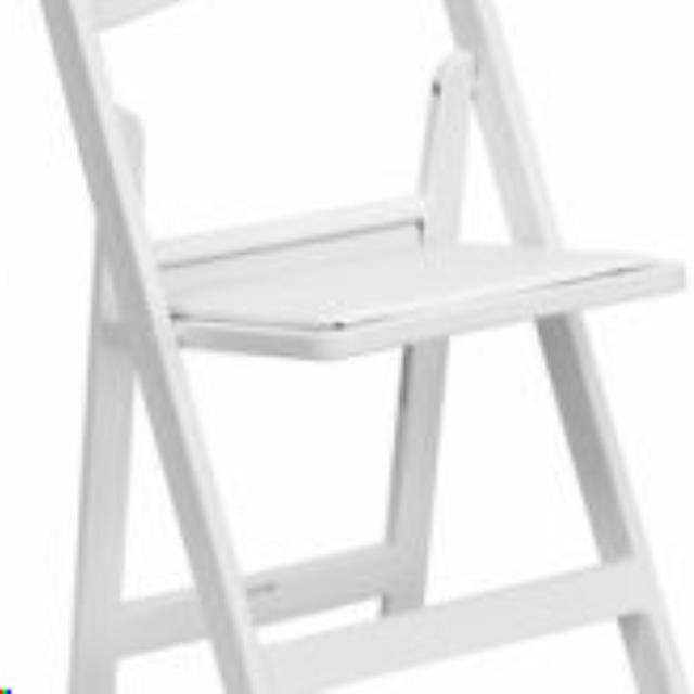 Where to find CHAIR, WHITE RESIN FOLDING in Martinsburg