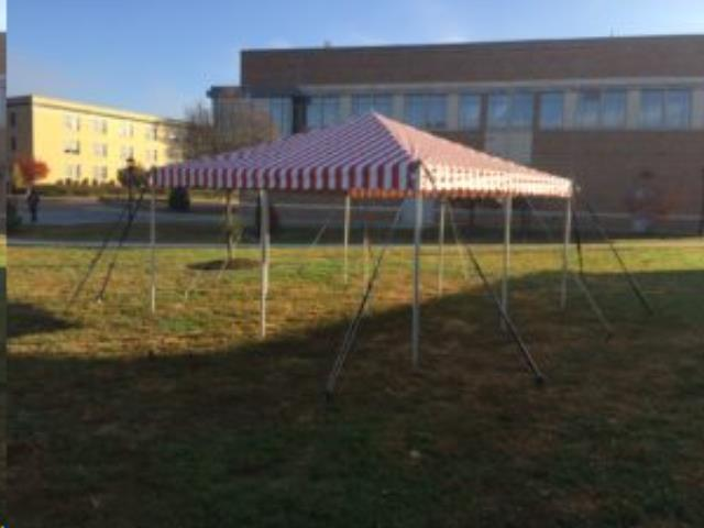 Where to find TENT, 15X15 RED WHITE in Martinsburg